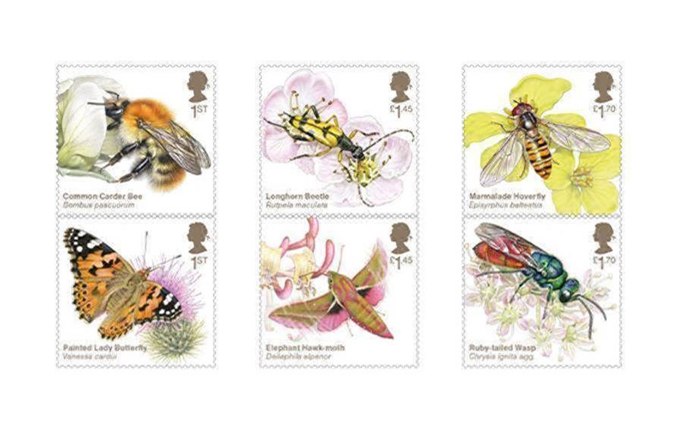 Royal Mail Insect Stamps